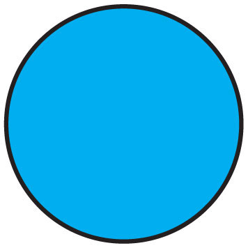 """11030-01-00 3/4"""" SupeRemovable Solid Blue Round Labels  - 1000/Roll 6D1101"""
