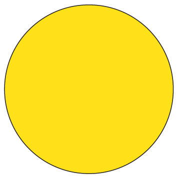 """11030-02-00 3/4"""" SupeRemovable Solid Yellow Round Labels  - 1000/Roll 6D1102"""