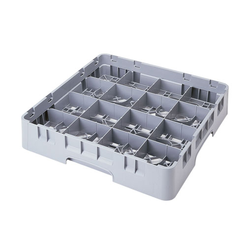 16C258151 Camrack® Full Size 16 Compartment Soft Gray Cup Rack 8R1852