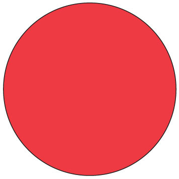 """11030-03-00 3/4"""" SupeRemovable Solid Red Round Labels  - 1000/Roll 6D1103"""