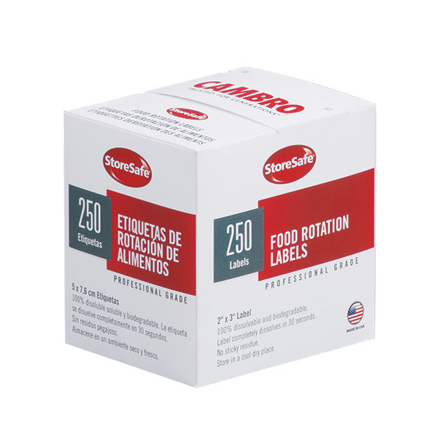 Cambro 23SLB6250 StoreSafe® Food Rotation Label - 6/Case 8D6250